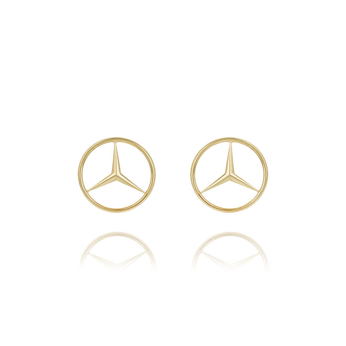 18k Mercedes Benz Emblem Cufflinks